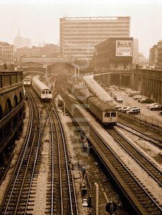 Old Train Station, Train Stations, London History, Uk History, London Underground Train, Hatton Garden, London Architecture, London Pictures, British Rail