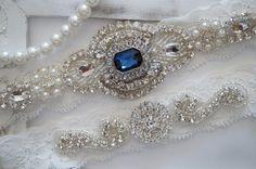 Wedding Garter Set Bridal Garter Set Vintage by OneFancyDay