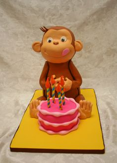 Animal cakes on pinterest horse cake cake wrecks and for Curious george cake template