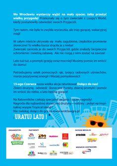 """plakat Gry Miejskiej """"Uratuj Lato"""" organizowanej przez #Loopy's #World"""