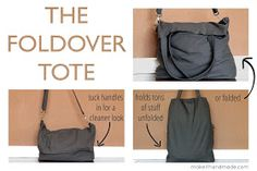 The foldover tote: free tutorial for a fun bag that carries a lot or just a little!