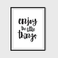 Enjoy The Little Things Typography by PaperLoveGraphics on Etsy Quote Posters, Little Things, Office Decor, Scandinavian, Typography, Inspirational Quotes, Printables, Texture, Digital