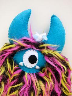 Jack - Handmade furry plush monster doll by dkoss2 on Etsy https://www.etsy.com/listing/158223257/jack-handmade-furry-plush-monster-doll