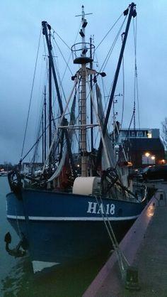 Harlingen,  Friesland.  Vissersboot