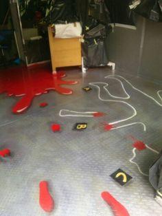 Crime scene floor work ♣♧♣