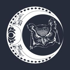 Check out this awesome 'Owl+and+Moon' design on @TeePublic!