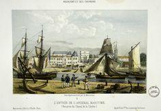 Mercereau, Rochefort et ses environs : l'entrée de l'Arsenal maritime. Lithographie, vers 1850.
