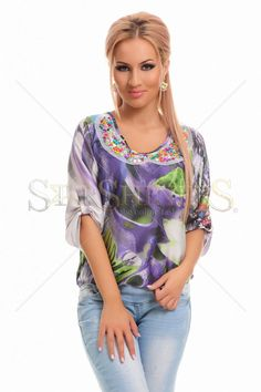 Bluza MissQ Happy Colours Purple - MuJeR.ro http://www.mujer.ro/bluza-missq-happy-colours-purple