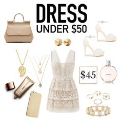 """""""Untitled #129"""" by vianneyfrias ❤ liked on Polyvore featuring BCBGMAXAZRIA, Nly Shoes, Dolce&Gabbana, Sonal Bhaskaran, Lipsy, Lele Sadoughi, Eddie Borgo, Chanel, Nude by Nature and Dressunder50"""