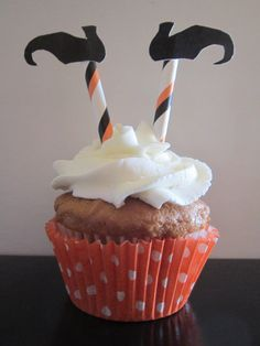 Witch Legs Shoe Halloween Cupcake Topper by DKDeleKtables on Etsy, $6.00