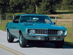 Perhaps one of the rarest of muscle cars, the 1969 ZL1 Camaro.