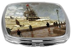 Rikki Knight Compact Mirror, Claude Monet Art The Jetty of Le Havre in Bad Weather, 3 Ounce >>> Want additional info? Click on the image.
