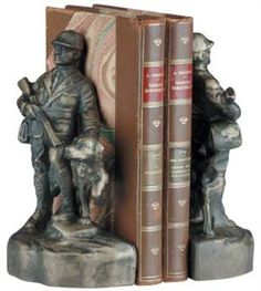 Hunter w/ Dog Bookends Mountain Decor, Rustic Office, Patina Finish, Sit Back, Wonderful Things, Rocky Mountains, Eagles, Craftsman, Bookends