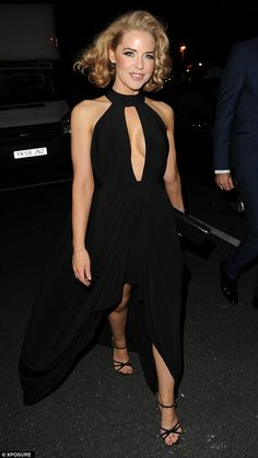 Glam: Hollyoaks actress Stephanie Waring dressed to impress when she attended a charity function in Manchester's Old Trafford on Saturday
