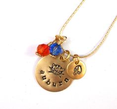 Auburn University CUSTOM Charm Necklace by CrowStealsFire on Etsy, $37.00