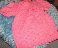 This free knitting pattern is just what your little girl needs.  Make your own Lace Baby Dress with this free tutorial!