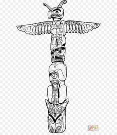 16+ Native American Totem Pole Drawings - Drawingwow.com Totem Pole Drawing, Native American Totem Poles, Nativity, Black And White, Drawings, Art, Black White, Sketches, Art Background