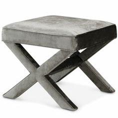 Jonathan Adler Furniture X-Bench Brussels Charcoal @Layla Grayce #laylagrayce #jonathanadler #coastal