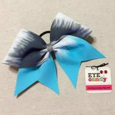 Ombre Blue and Gray 3 Inch Cheer Bow Softball Dance Gymnastics by ItsAllEyeCandy on Etsy https://www.etsy.com/listing/238390483/ombre-blue-and-gray-3-inch-cheer-bow