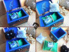 Caja Totoro/Broche Totoro/Colgante Totoro/Duende del polvo #etsy #shop #tienda #etsyshop #totoro #mivecinototoro #myneighbourtotoro #tororofans #hayaomiyazaki #estudioghibli #duendedelpolvo #pendant #colgante #handmade #broche #brooch