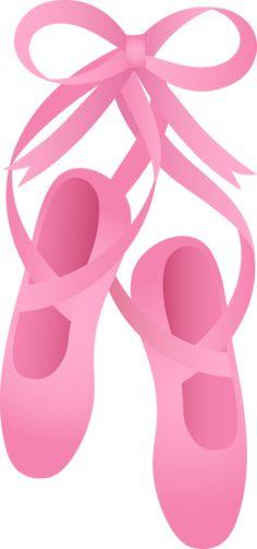 pink ballet shoes, clip art