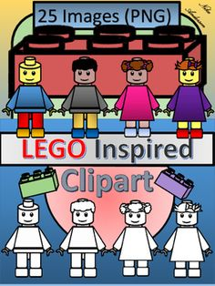 LEGO Inspired Kids Clipart | Commercial Use OK | Kid, Spring and Fall