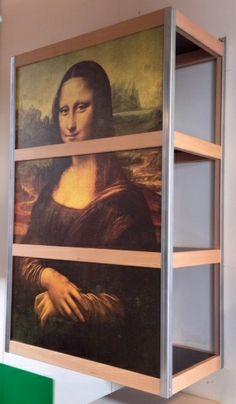 Moduloo met print Mona Lisa