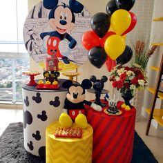Festa Mickey Baby, Fiesta Mickey Mouse, Mickey Mouse Bday, Mickey Birthday, Mickey Party, Mickey Centerpiece, Miki Mouse, Mickey Mouse Birthday Decorations, Mini