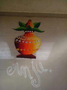 Beautiful garbo rangoli