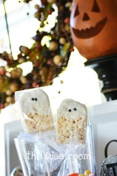 """Ghosted"" rice crispy treats."