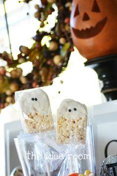 Rice Krispie treat ghost bars
