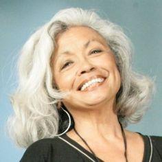 Deloris De Vega, great gray hair, great smile