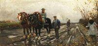 Pferdegespann von Philipp Franck