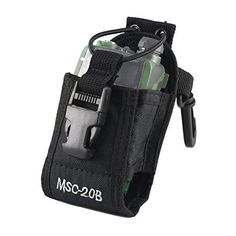Tera Nylon Multifunctions Handsfree Adjustable Two Way Radio Case Bag Protector Pouch Sheath for Baofeng Motorola Kenwood Midland Inter-phone Color Black ** Check out the image by visiting the link. (This is an Amazon Affiliate link)