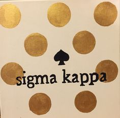 gold DIY sigma kappa kate spade inspired canvas craft