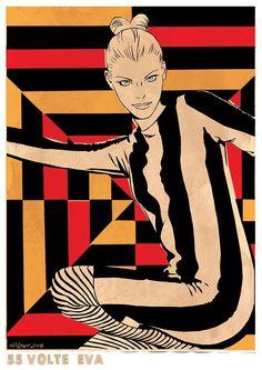 Diabolik, Jaguar, E Type, Pulp Art, My Love, Drawings, Movies, Movie Posters, Lady