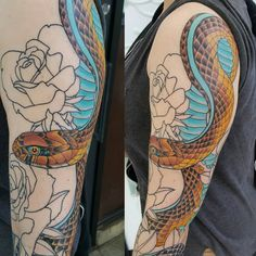 50+ Gorgeous Healing Snake Tattoo designs and ideas - Looks Great Check more at http://tattoo-journal.com/40-amazing-images-of-snake-tattoo/