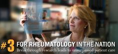 #3 for Rheumatology in the Nation: Breakthrough research leads to unsurpassed patient care