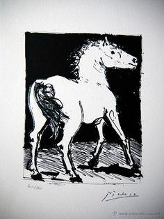 PICASSO, P. (1881-1973). LE CHEVAL. FIRMADA. NUM.(607/800). LIMITADA. ARCHES / Picasso en todocoleccion