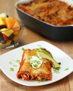 Western Breakfast Enchiladas
