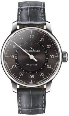 MeisterSinger Watch Perigraph #360-image-yes #bezel-fixed #bracelet-strap-alligator #case-material-steel #case-width-43mm #clasp-type-tang-buckle #delivery-timescale-1-2-weeks #dial-colour-anthracite #gender-mens #jura-top-sellers #luxury #movement-automatic #official-stockist-for-meistersinger-watches #packaging-meistersinger-watch-packaging #subcat-perigraph #supplier-model-no-am1007-croco-print-anthracite #warranty-meistersinger-official-2-year-guarantee #water-resistant-50m