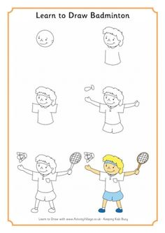 Learn To Draw Badminton
