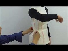 TR Cutting School-Moulage/Draping on Body by Shingo Sato-Corset Jacket- - YouTube