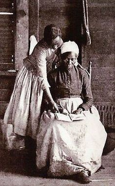 Freed Slave Learning to Read, African American Black Woman -- Civil War Postcard  http://www.ebay.com/itm/122491567413