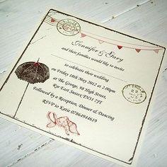 Beach them personalised wedding invitations £1.65
