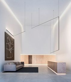 Stick by Vibia from Cameron Peters Lighting Linear Lighting, Overhead Lighting, Unique Lighting, Lighting System, Lighting Design, Element Lighting, Interior Lighting, Aluminium, Lights