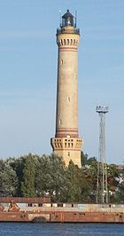 Latarnia Morska w Świnoujściu-01.jpg 212 feet, Swinoujscie, Poland 1857, tallest brick lighthouse, tallest in Poland.