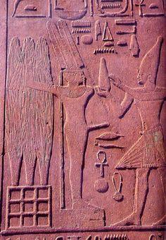 El dios Min, reconocible por su falo erecto, era el dios de la fertilidad