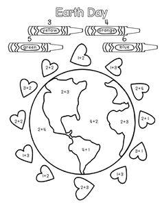 Earth Day math sheet