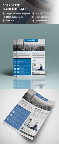 corporate psd flyer template on behance